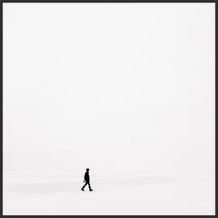 Shame is an oversimplification you can't afford. Here is an example of what it feels like! A lone figure in black walking in a wasteland of whiteness.