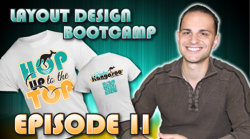 Layout Design Bootcamp – Episode 11 – T-Shirt Layout & Separations For Screenprinting
