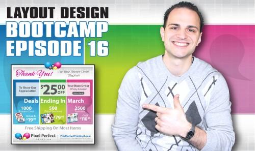 Layout Design Bootcamp – Episode 16 – Email Blast Design