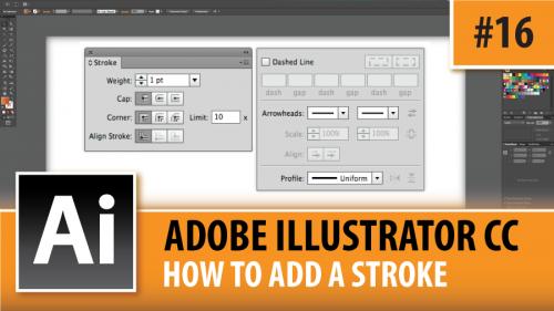 Adobe Illustrator Creative Cloud – How To Add A Stroke – Episode #16