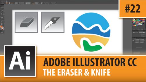 Adobe Illustrator Creative Cloud – Eraser & Knife Tools- Episode #22