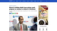 Mayoral candidate Malik Evans pitches youth programs as solution to violence in Rochester