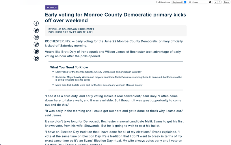 Early voting for Monroe County Democratic primary kicks off over weekend
