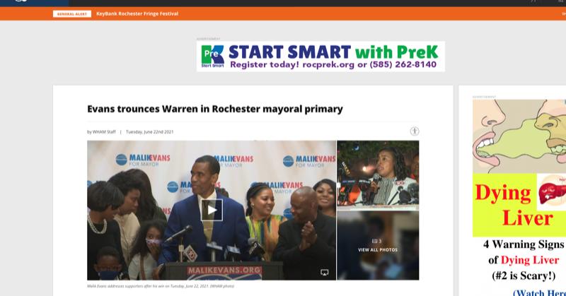 Evans trounces Warren in Rochester mayoral primary