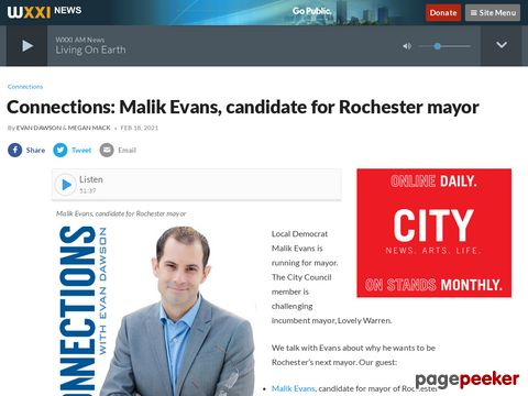 Connections: Malik Evans, candidate for Rochester mayor