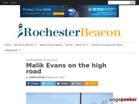 Malik Evans on the high road