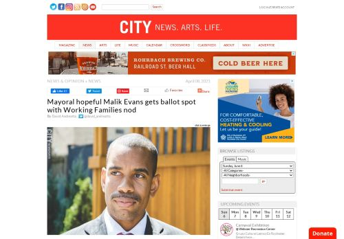Mayoral hopeful Malik Evans gets ballot spot with Working Families nod