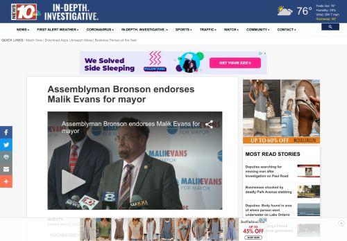 Assemblyman Bronson endorses Malik Evans for mayor