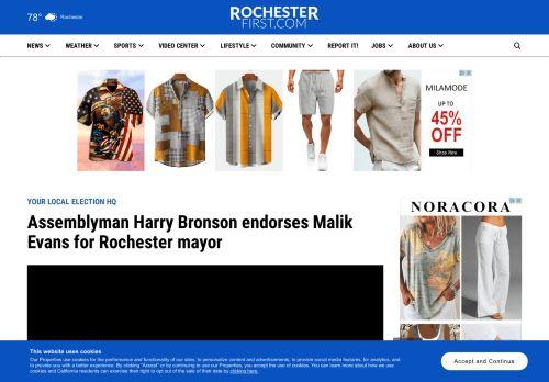 Assemblyman Harry Bronson endorses Malik Evans for Rochester mayor