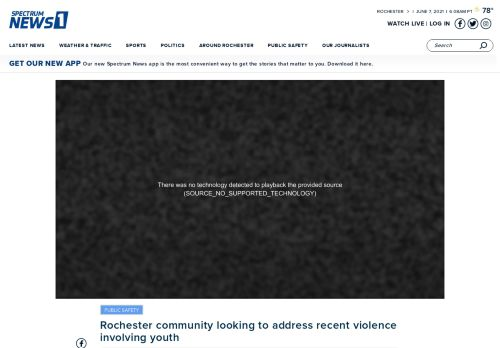 Rochester community looking to address recent violence involving youth