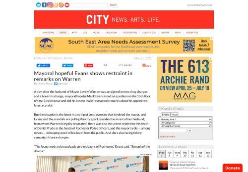 Mayoral hopeful Evans shows restraint in remarks on Warren