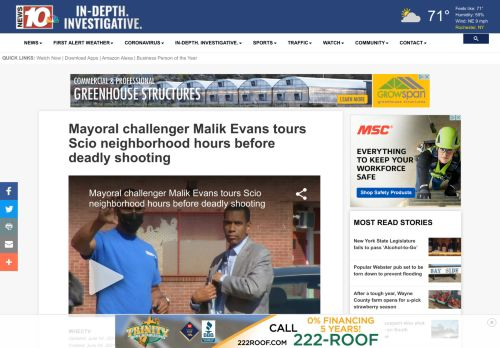 Mayoral challenger Malik Evans tours Scio neighborhood hours before deadly shooting