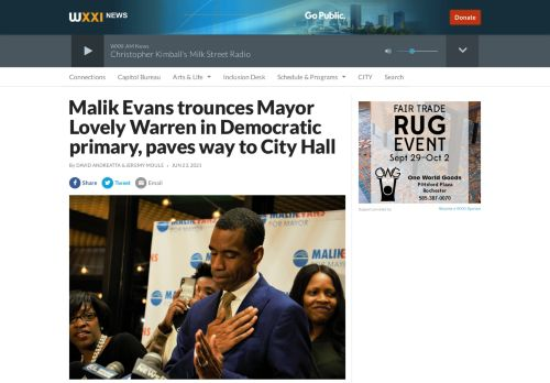 Malik Evans trounces Mayor Lovely Warren in Democratic primary, paves way to City Hall