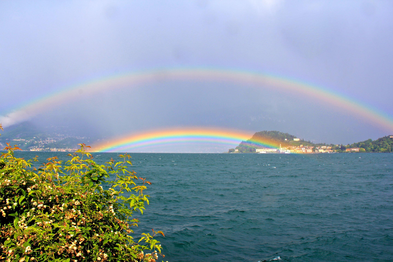 Double Rainbow on Lake Como