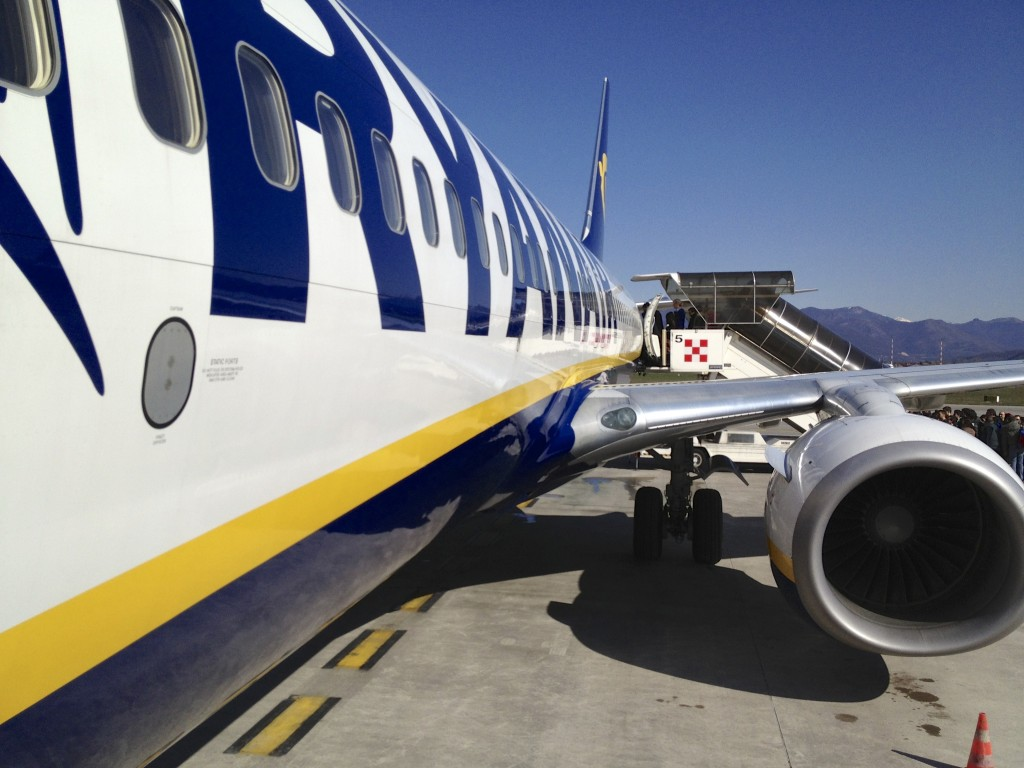 Boarding Ryan Air to Ireland