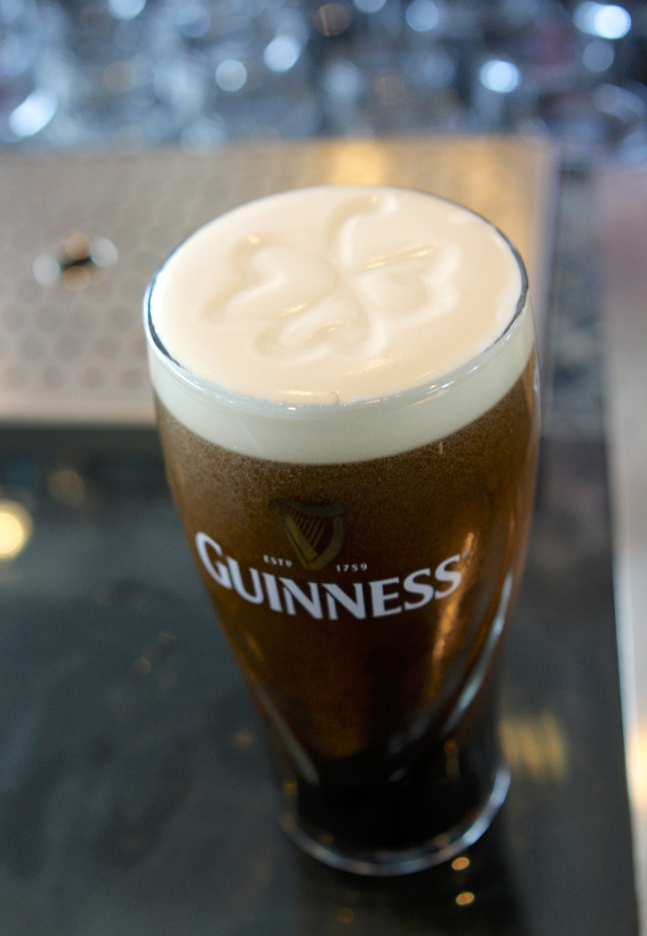 A Delicious Guinness Complete With Shamrock