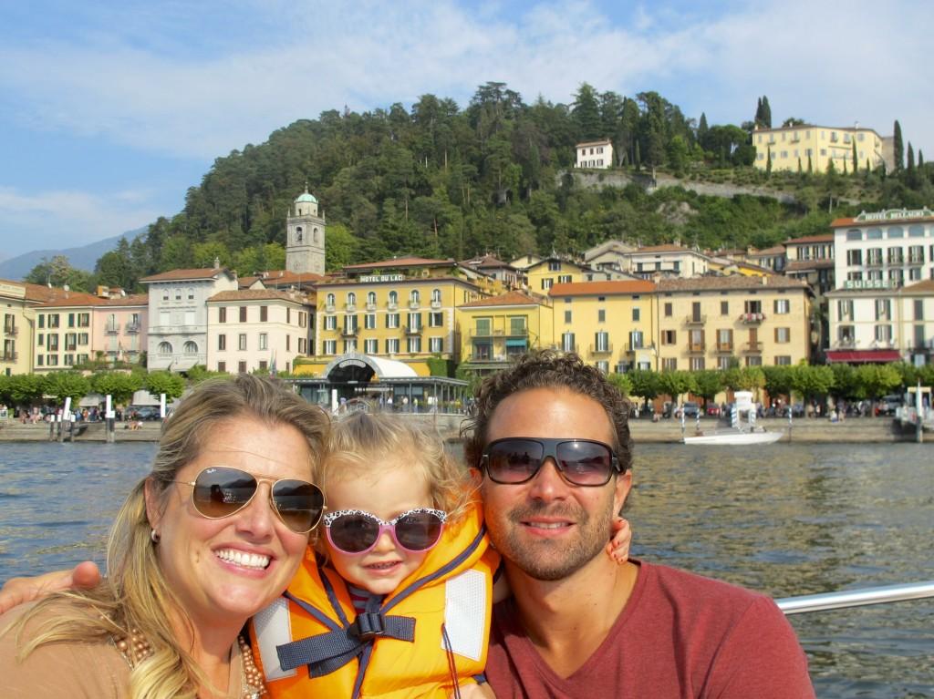 Greg, Jen & Julia in front of Bellagio