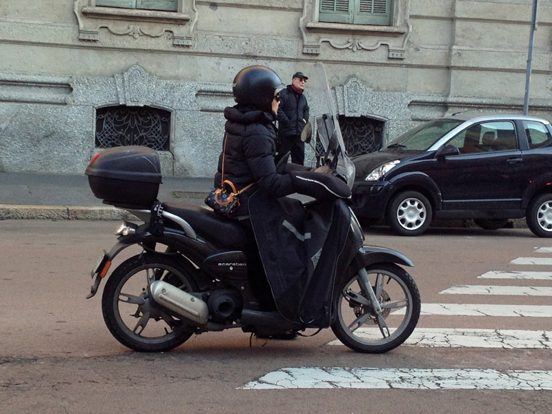 Motorcyclists use their bikes year round