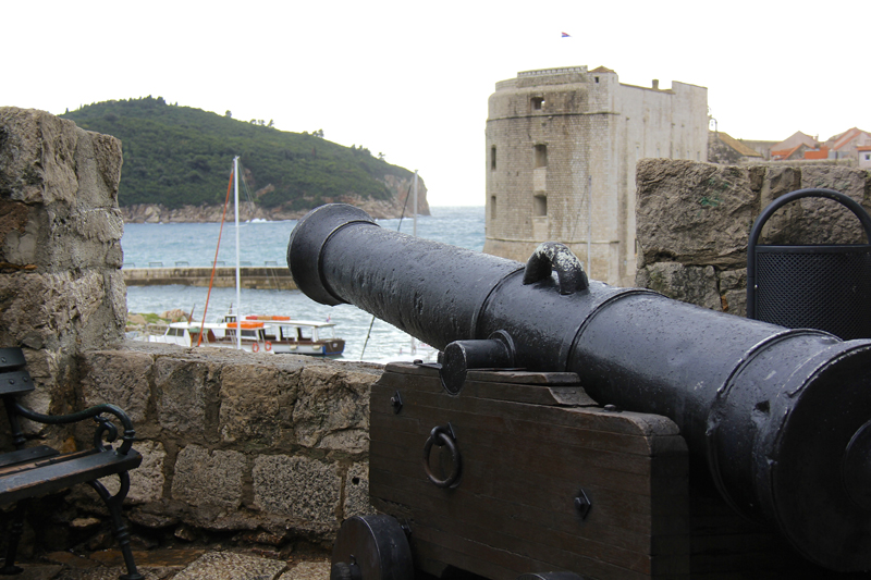 It's hard to forget that the entire city has been fortified against invaders