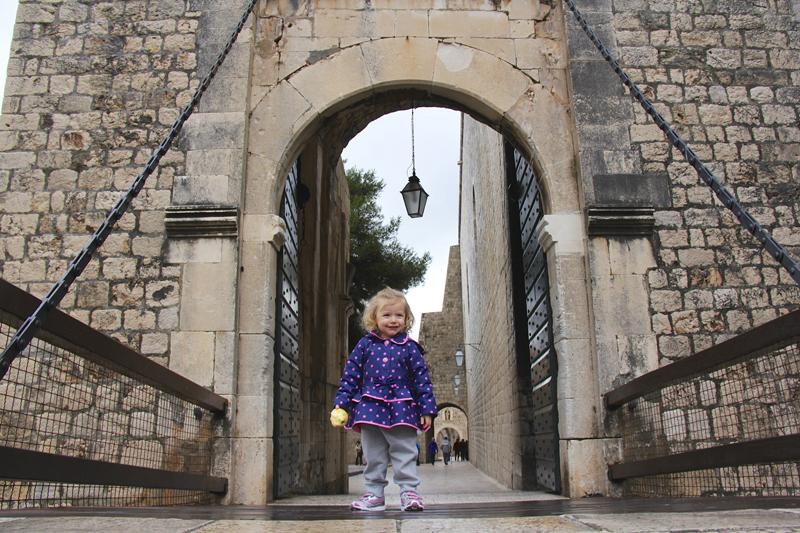 Julia guides us through the Ploče Gate