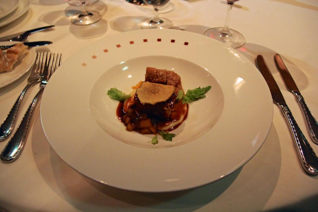 Pork Belly - Parsnip Purée, Caramelized Apples, Calvados Jus