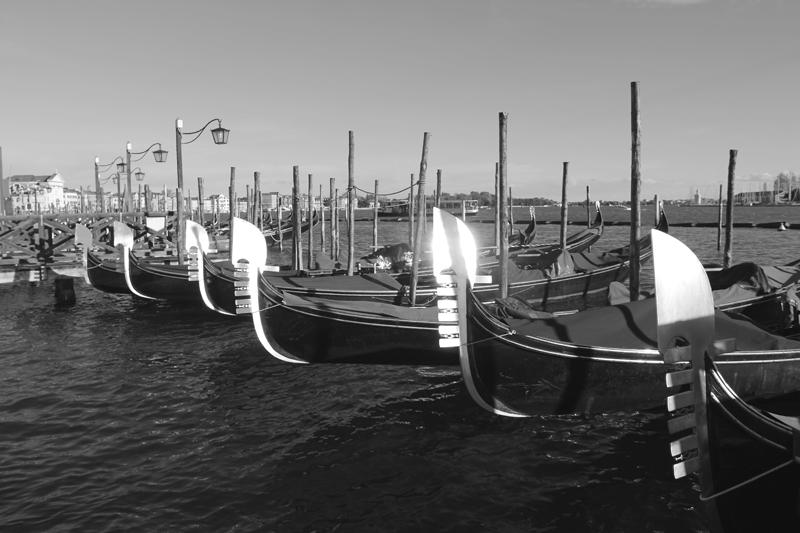 Gondolas on the water
