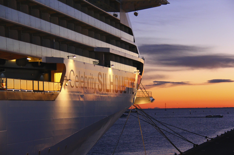 We returned to our ship as a beautiful sun was setting on the Grand Canal