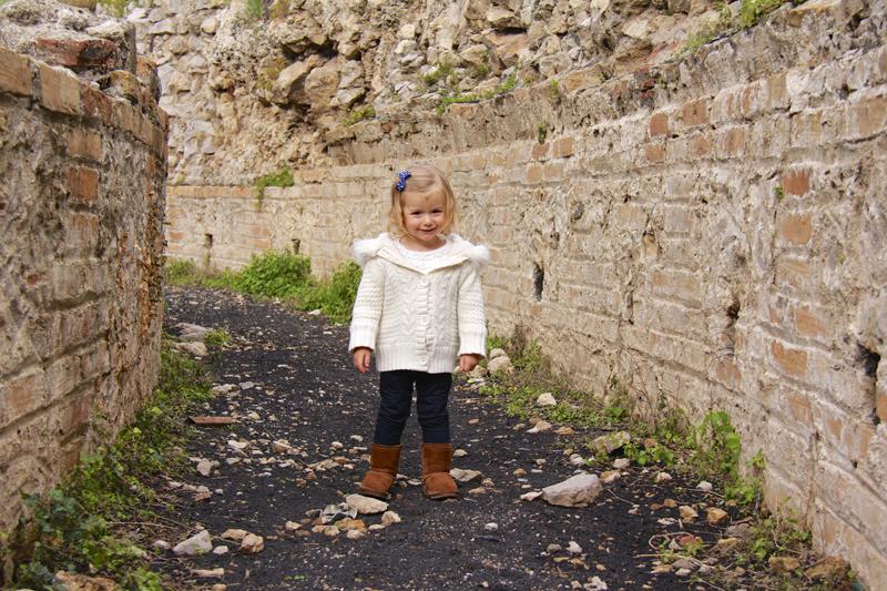 Julia enjoyed walking on what became a black pathway