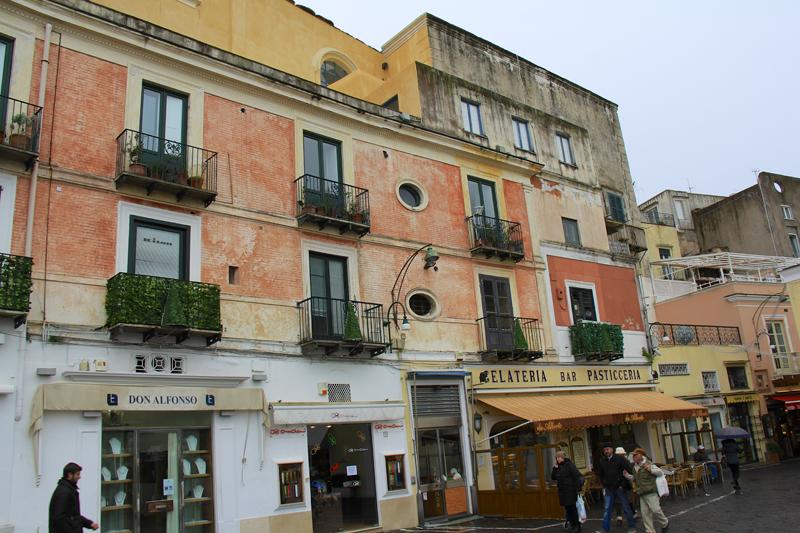 The streets of Capri, an island near Naples