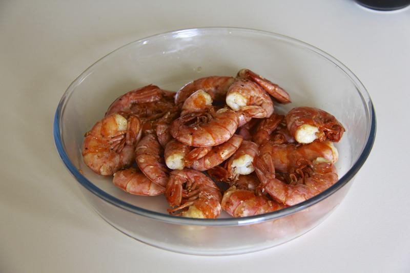 Set the shrimp aside