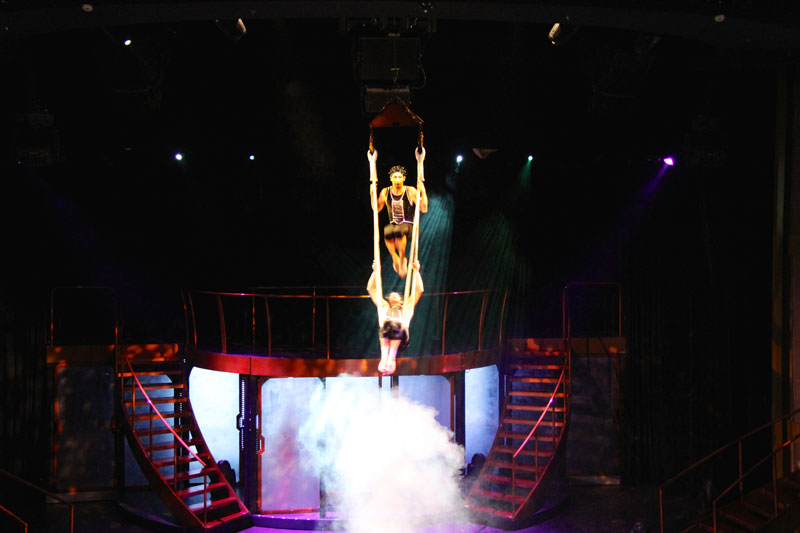 """The wonderful dance crew performed a """"Cirque du Solei"""" type performance on the final night"""