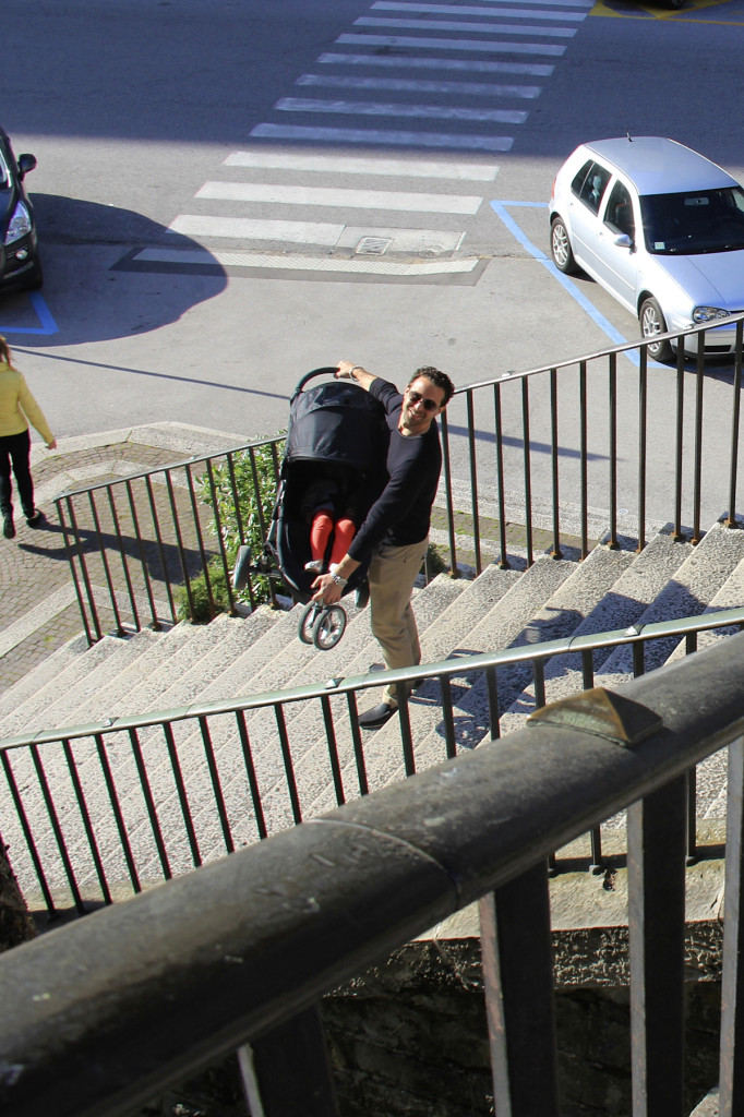 Half-Marathon or not... this kid had to get up and down these stairs somehow