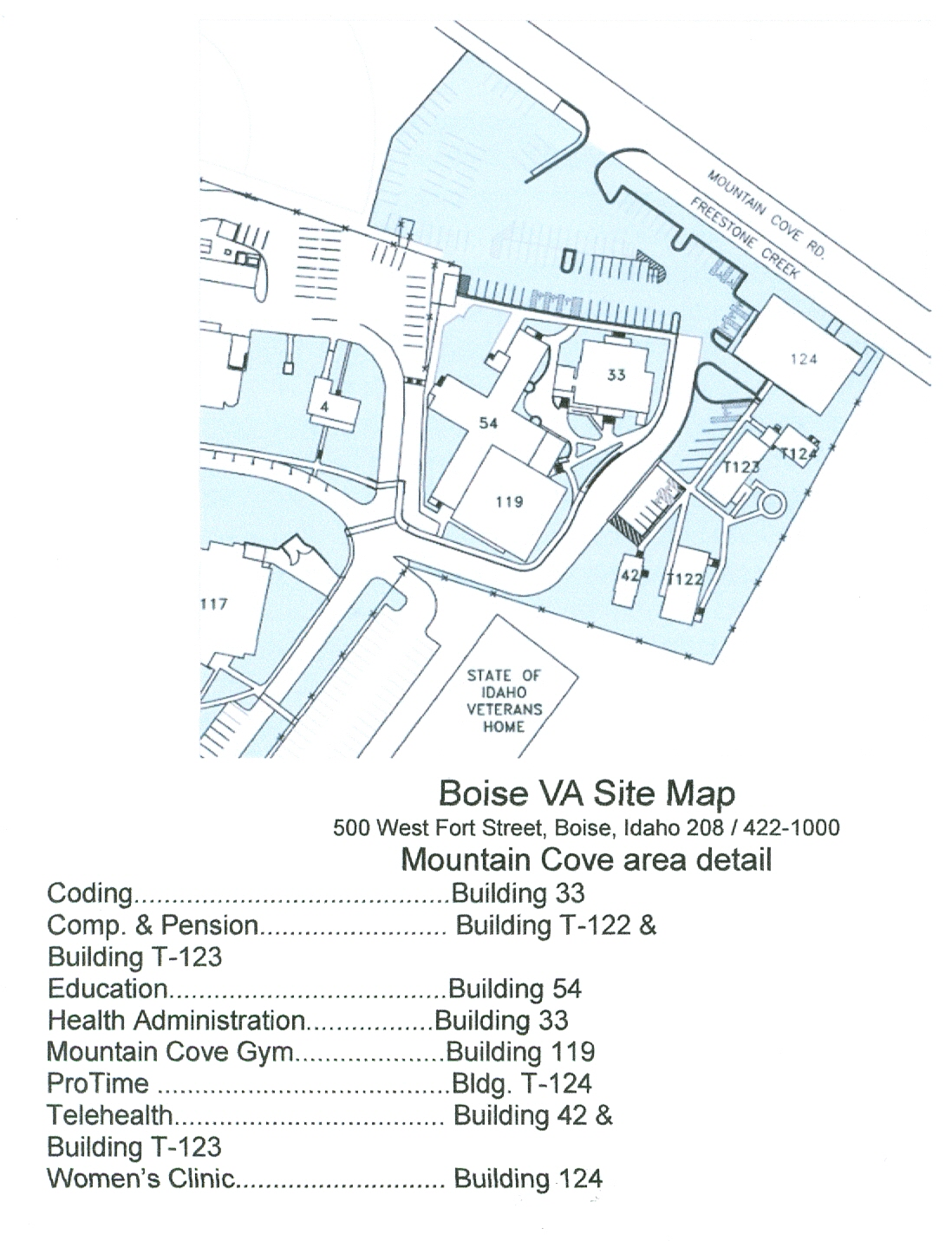 Boise VA Hospital maps-2