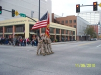 Veterans Day parade, Color Guard, Charlie Co, 4th Tanks.JPG
