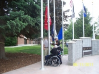 ISVH Resident Marine hoisting Marine Corps Colors.JPG