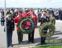Ralph Elston & Cmdt Gary Randel Laying Wreath.JPG