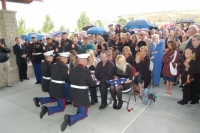 Marines from 4th Tank presenting flags to family.jpg