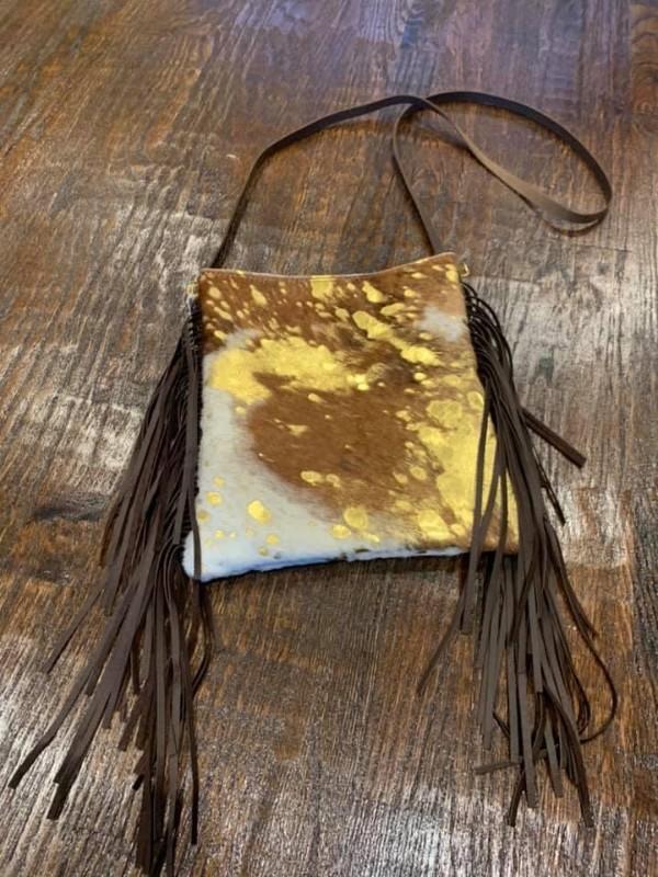 Metallic-Hair-on-Hide-purse-with-Fringe