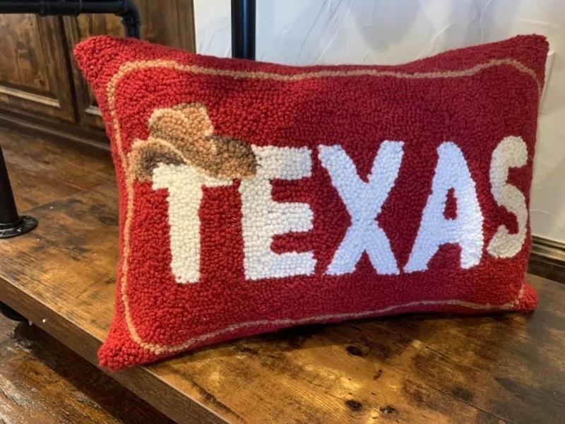 Texas-Pillow-red