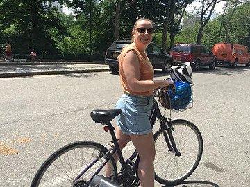 sam on a bike