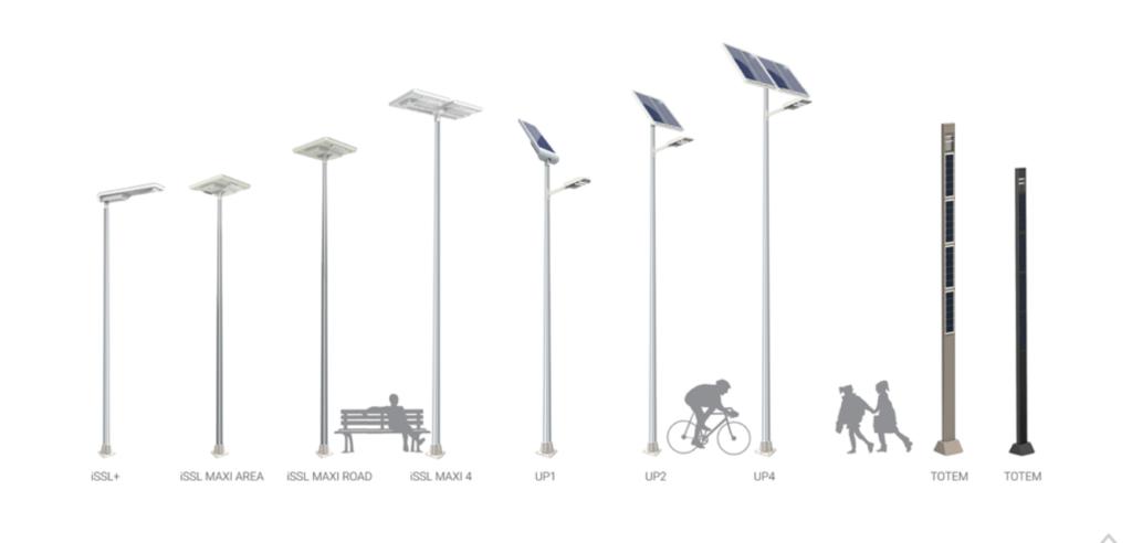 Sunna Design solar streetlights