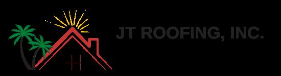 rectangled logo of JT Roofing
