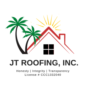 Squared logo of JT Roofing