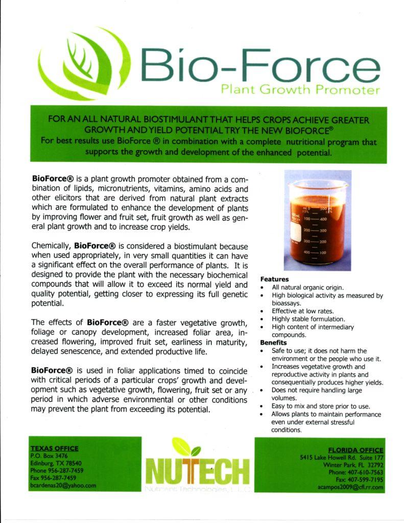 Bio Force Label 1