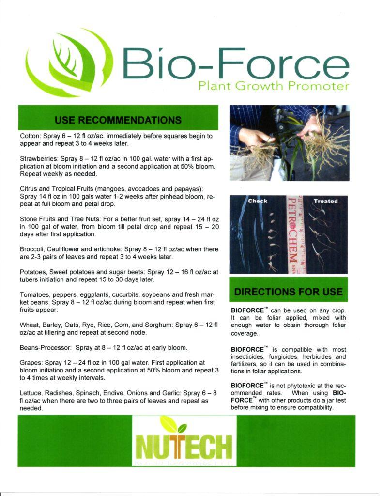 Bio Force Label 2