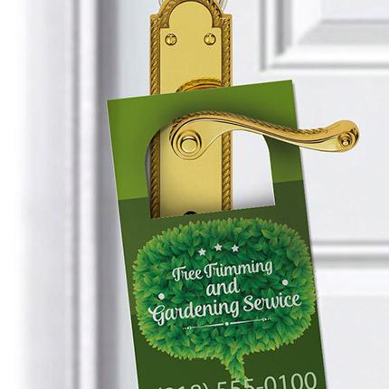 Full Color Door Hangers, Custom Full Color Door Hangers, Door Hangers, Custom Door Hangers, Hangers, Large Door Hangers, Custom Hangers