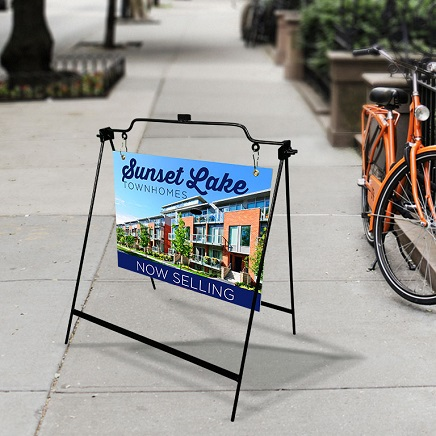 A-Frame Signs, Sidewalk Signs, Real Estate Signs, Real-Estate Signs, Metal Rod A-Frame Signs, Custom Metal Rod A-Frame Signs, Directional Signs, Custom Directional Signs