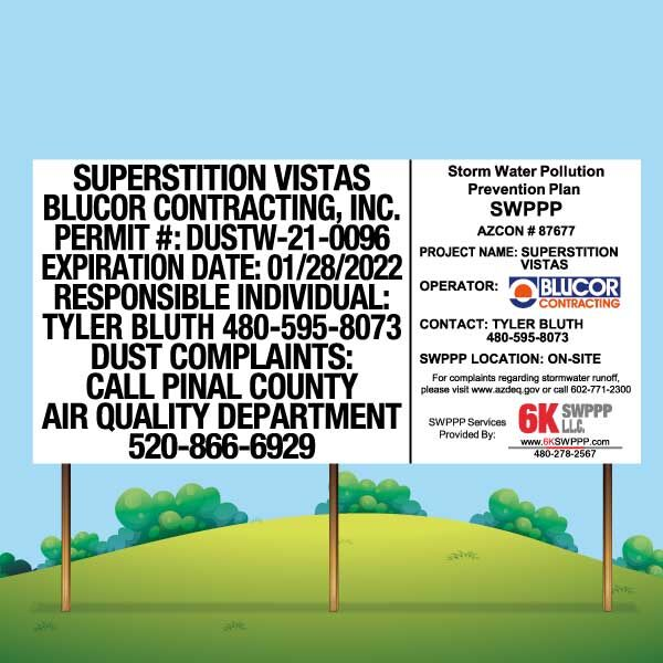 SWPPP Signs, SWPPP Signage, Stormwater Pollution Prevention Plan signs. Dust Control Signs, Dust Control Signage, Storm Water Pollution Prevention Plan signs, Storm Water Pollution Prevention Plan signage