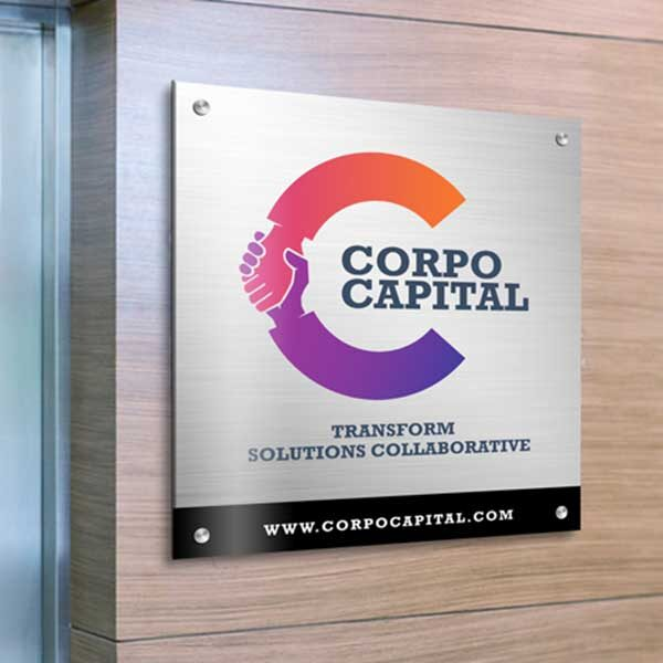 Brushed Silver Aluminum Signs, Brushed Silver ACM Signs, Aluminum Signs, Aluminum Boards, Brushed Aluminum Signs, Brushed ACM Signs