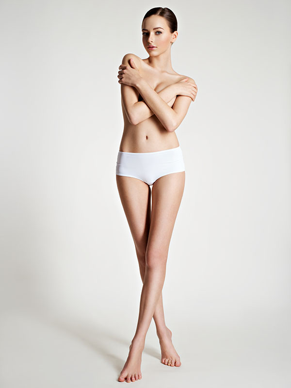 woman after waxing